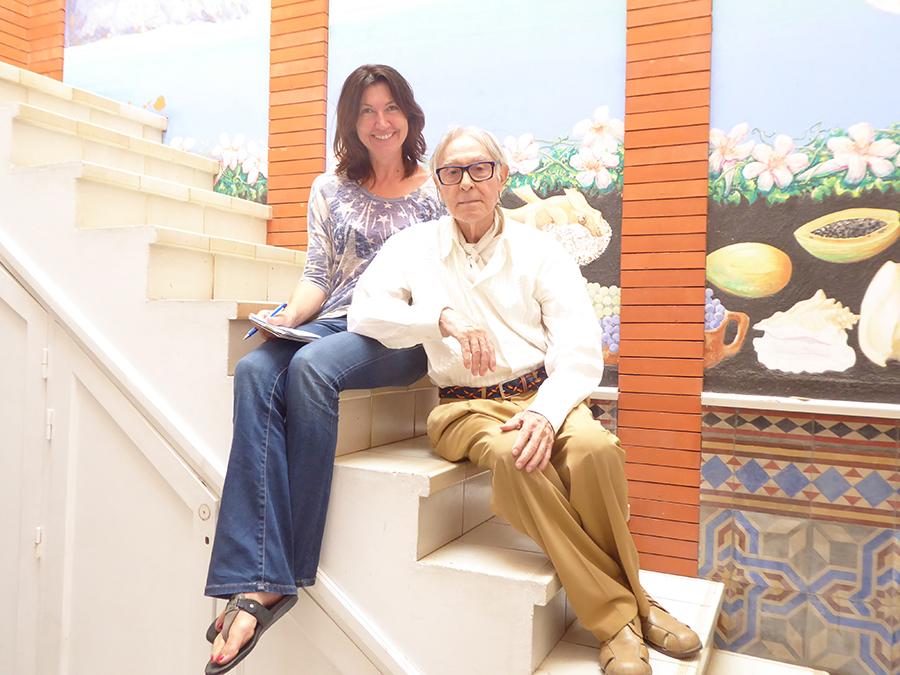 Foto v. li.: Julija Major (Herausgeberin Viva Canarias) und Pepe Damaso, Oktober 2018