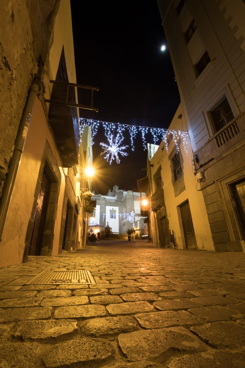 Altstadt Vegueta mit Blick auf die Rückseite der Kathedrale Santa Ana
