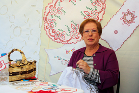 Josefa Dolores Peña Galván, Kunststickerin
